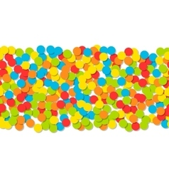 Pattern of colorful confetti Festive background vector