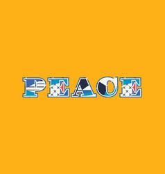 Peace concept word art vector