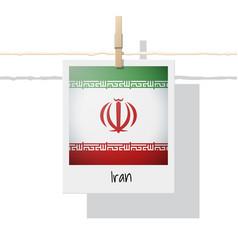 Photo iran flag vector