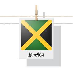 photo of jamaica flag vector image