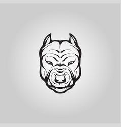 Pitbull dog logo icon design vector
