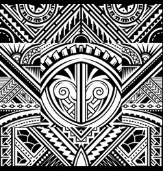 polynesian style tribal tattoo pattern vector image