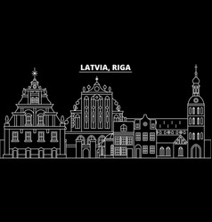 Riga silhouette skyline latvia - riga city vector