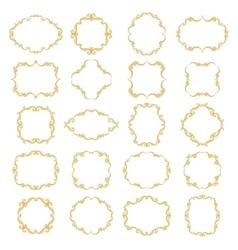 Set collection of ornamental vintage frames vector image