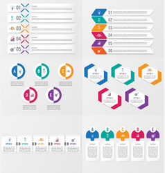 Set infographics element template with options vector