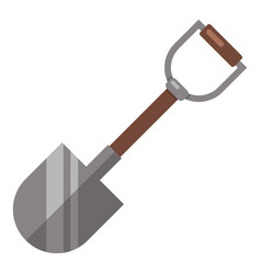 shovel icon flat style vector image