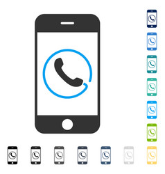 smartphone phone icon vector image