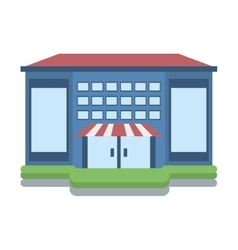 Store building shop isolated icon vector