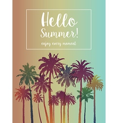 Summer Banner for Travel with Palms vector image