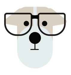 Terrier dog wearing glasses simple art geometric vector