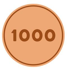 Thousand bronze coin vector