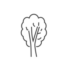tree related thin line icon vector image