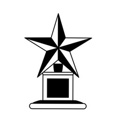 trophy with star icon image vector image