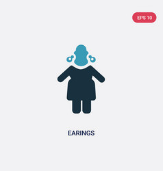 Two color earings icon from people concept vector