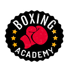 vintage logo for boxing academy vector image
