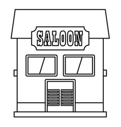 western saloon icon outline style vector image