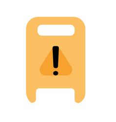 Wet floor warning sign modern flat design for web vector
