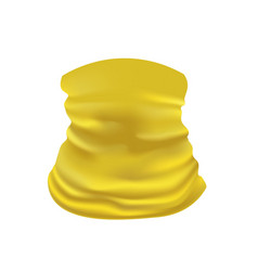 yellow neck scarf vector image