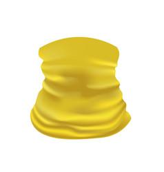 Yellow neck scarf vector