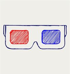 3-D Glasses vector image