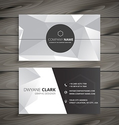 Abstract business card in gray vector