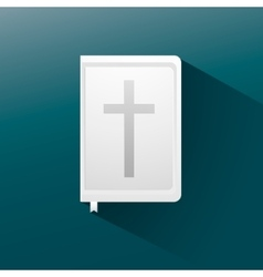 bible flat icon with long shadow vector image vector image