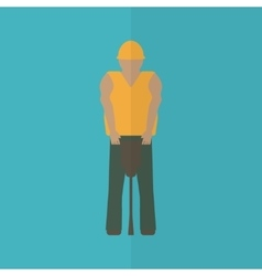 Construction worker flat icon vector image