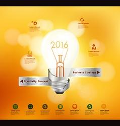 Creative light bulb idea 2016 new year vector