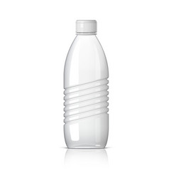 realistic plastic bottle for water vector image vector image