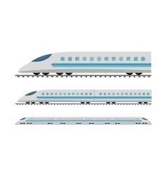 Set of Subway Trains Isolated on White vector image