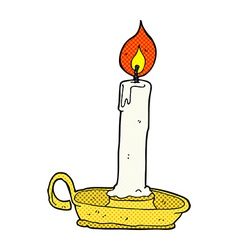 comic cartoon burning candle vector image