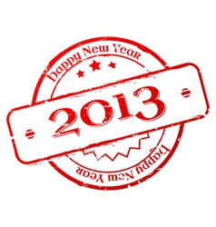 New year 2013 stamp vector image