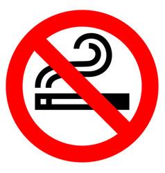 no smoking red sign vector image