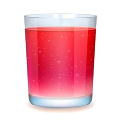 Red realistic cocktail vector image