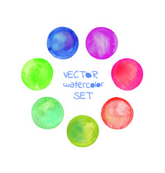 watercolor circles frame vector image