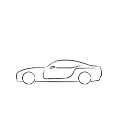Abstract sport car profile vector image vector image