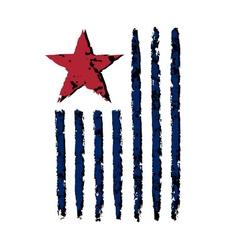 American vertical flag symbol celebration vector