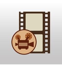 camera movie vintage strip film icon design vector image