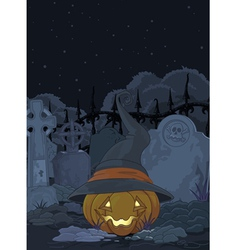 Cemetery pumpkin vector image