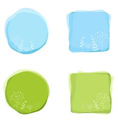 Floral decorative badges vector