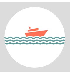 icon cruise liner vector image vector image