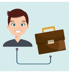 man with briefcase isolated icon design vector image