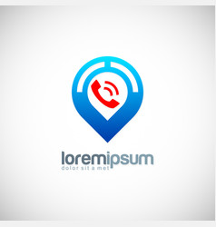 phone gps position logo vector image