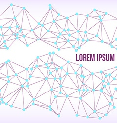 Abstract Technology Background Connected Dots vector image vector image