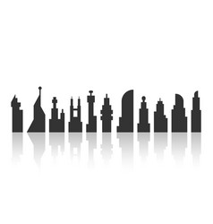 black city landscape with shadow vector image