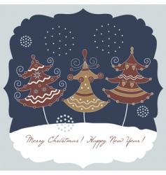Christmas illustration vector image