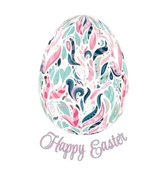 colorful easter egg on vector image vector image