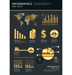 gold infographics se vector image vector image