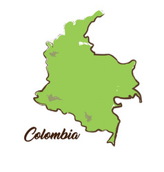 isolated colombian map vector image vector image