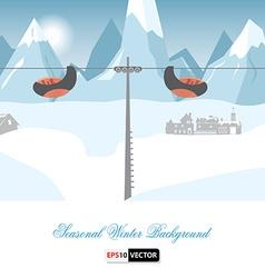 Seasonal winter background vector
